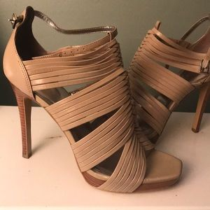 Beautiful Calvin Klein leather strapped heel
